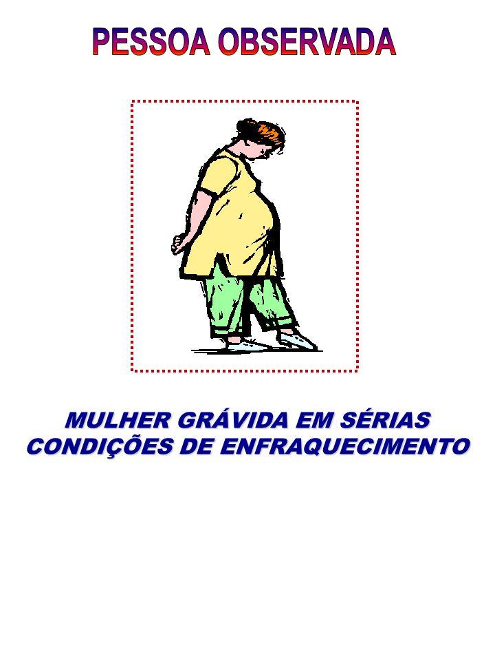 MULHER GRÁVIDA EM SÉRIAS CONDIÇÕES DE ENFRAQUECIMENTO