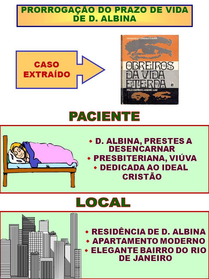 PACIENTE LOCAL PRORROGAÇÃO DO PRAZO DE VIDA DE D. ALBINA CASO EXTRAÍDO