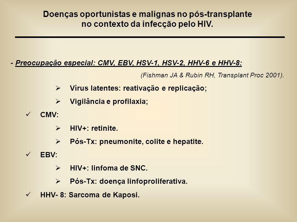 Doenças oportunistas e malignas no pós-transplante