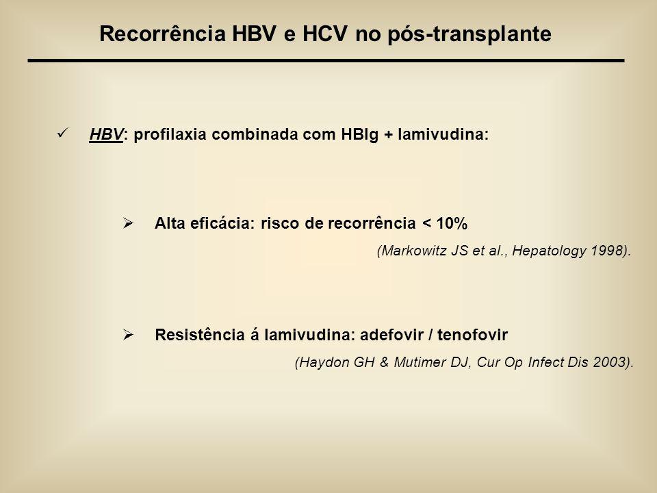 Recorrência HBV e HCV no pós-transplante