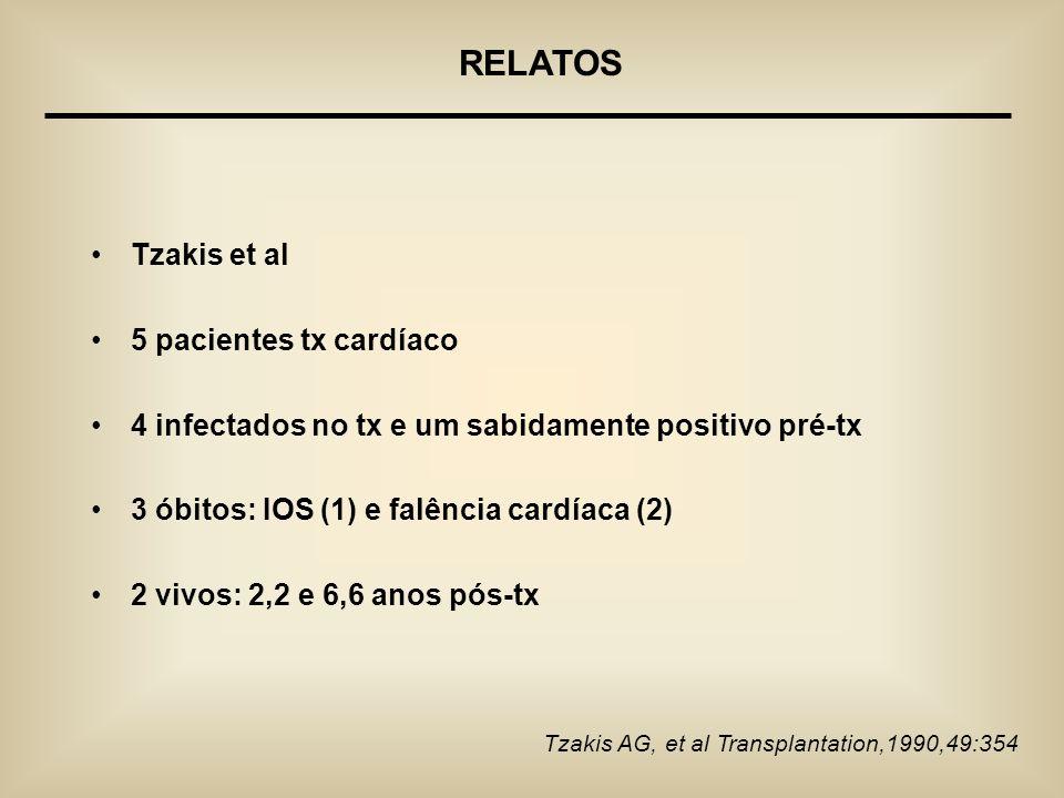 RELATOS Tzakis et al 5 pacientes tx cardíaco