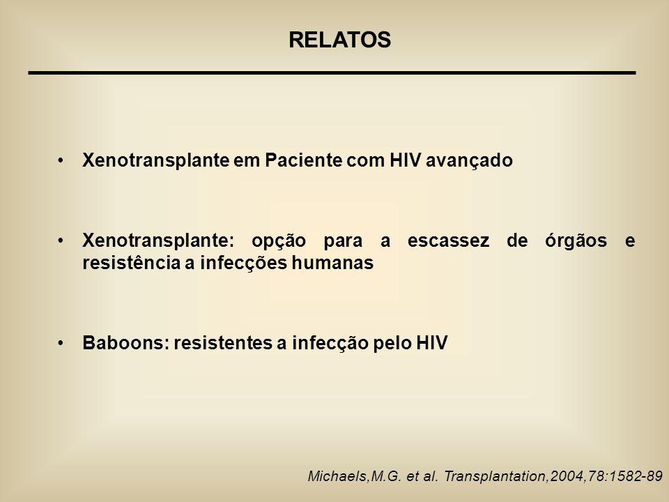 RELATOS Xenotransplante em Paciente com HIV avançado
