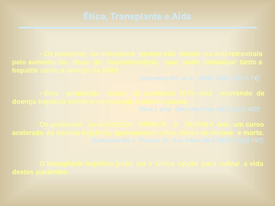 Ética, Transplante e Aids