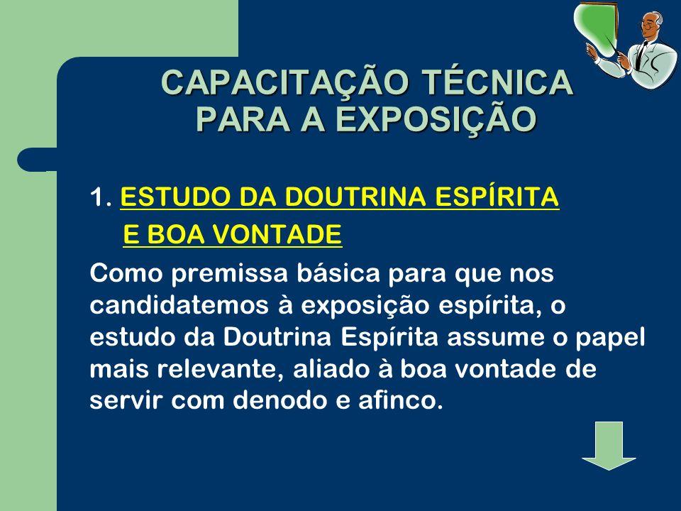 CAPACITAÇÃO TÉCNICA PARA A EXPOSIÇÃO