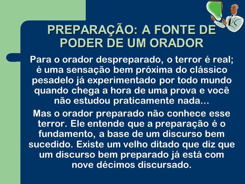 PREPARAÇÃO: A FONTE DE PODER DE UM ORADOR