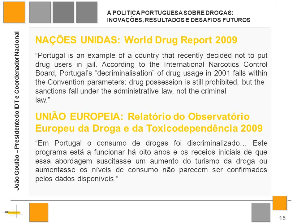 NAÇÕES UNIDAS: World Drug Report 2009