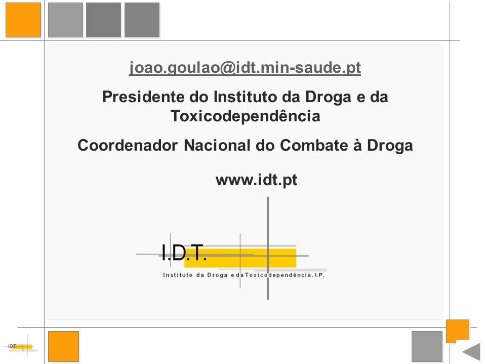 Presidente do Instituto da Droga e da Toxicodependência