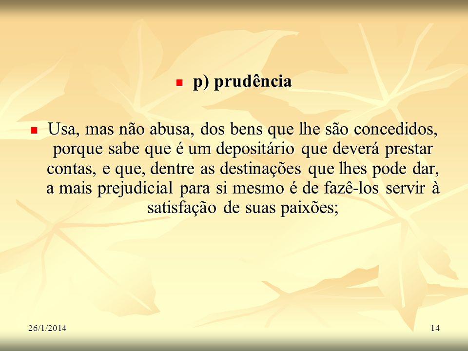 p) prudência