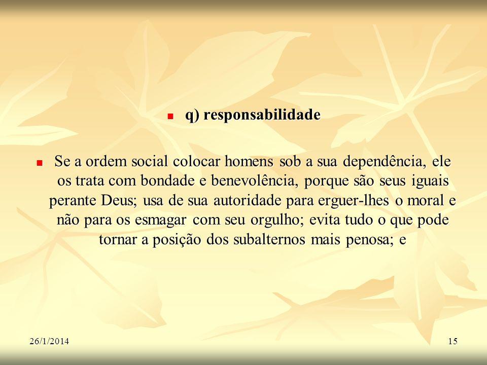 q) responsabilidade