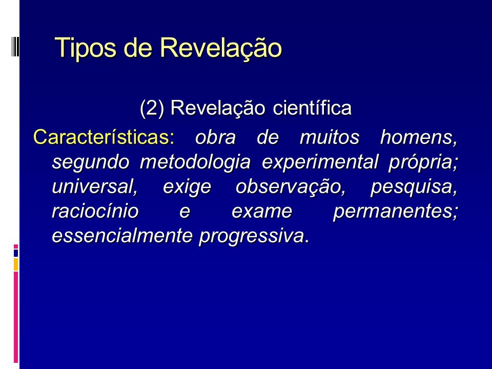 Tipos de Revelação
