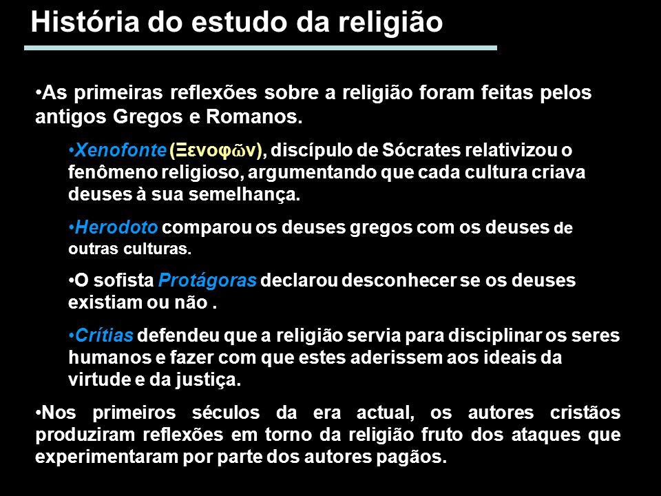 História do estudo da religião