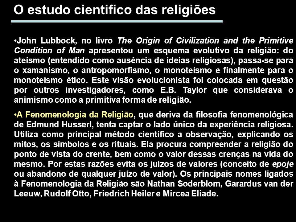 O estudo cientifico das religiões