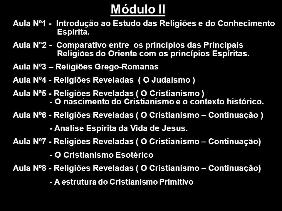 Módulo II Aula Nº1 - Introdução ao Estudo das Religiões e do Conhecimento Espírita.