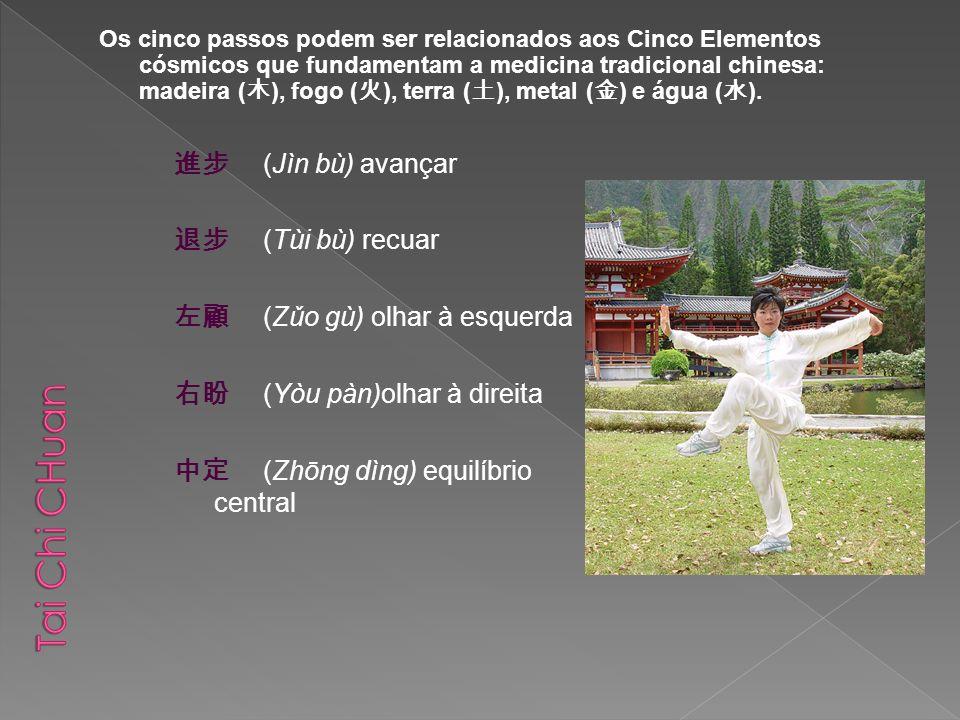 Tai Chi CHuan 進步 (Jìn bù) avançar 退步 (Tùi bù) recuar