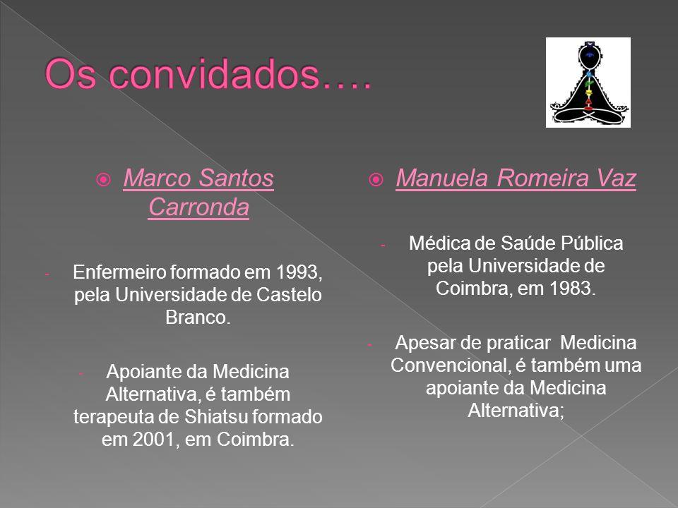 Os convidados…. Marco Santos Carronda Manuela Romeira Vaz