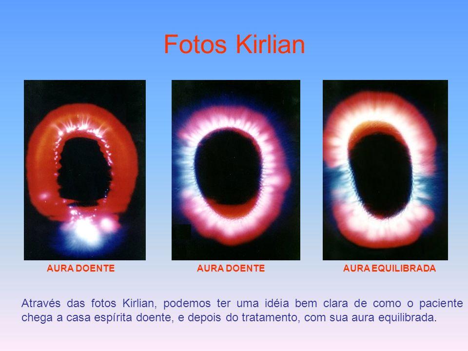 Fotos Kirlian AURA DOENTE. AURA DOENTE. AURA EQUILIBRADA.