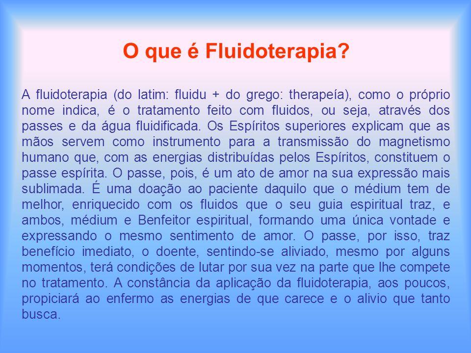 O que é Fluidoterapia