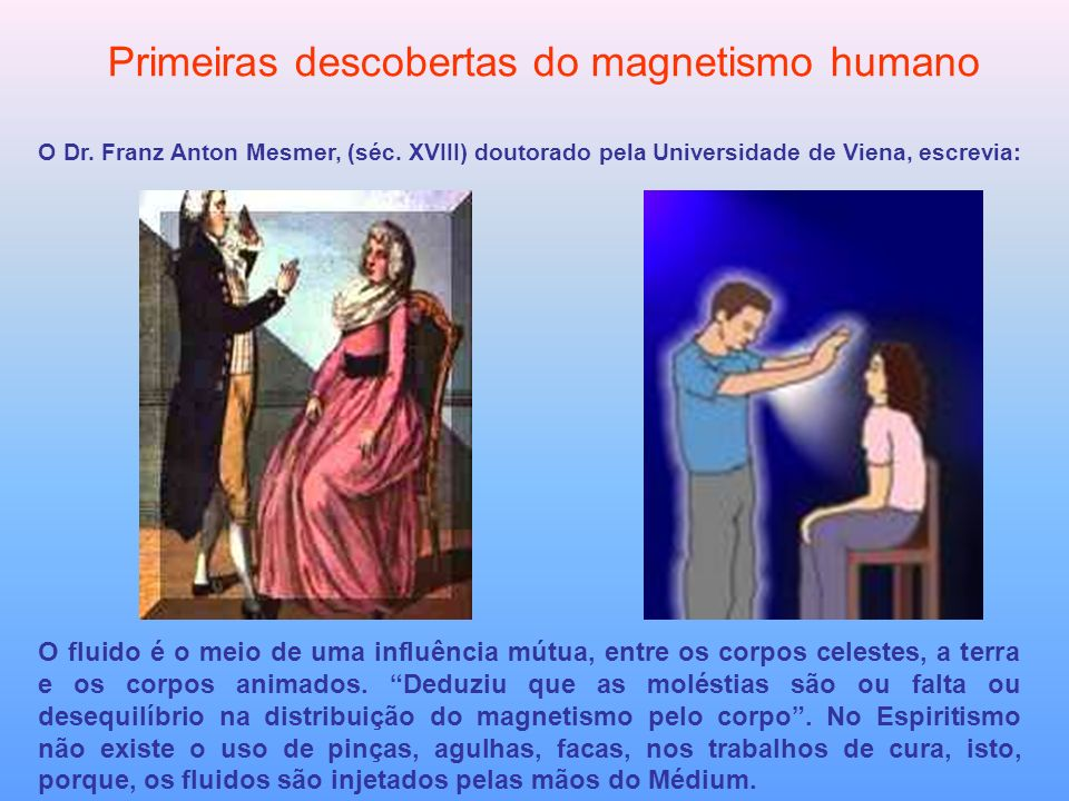 Primeiras descobertas do magnetismo humano