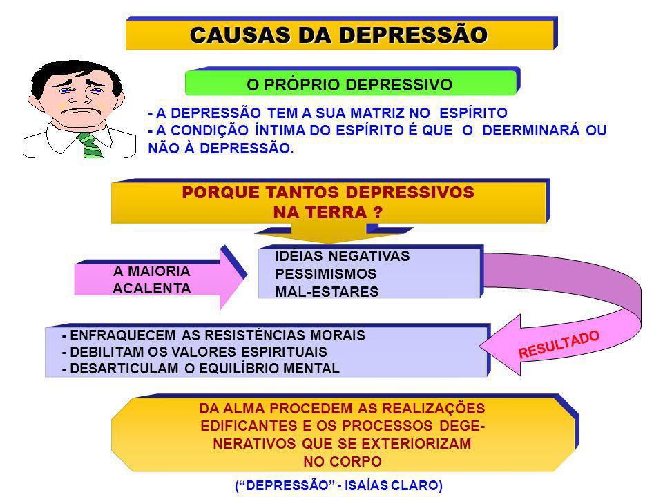 CAUSAS DA DEPRESSÃO O PRÓPRIO DEPRESSIVO PORQUE TANTOS DEPRESSIVOS