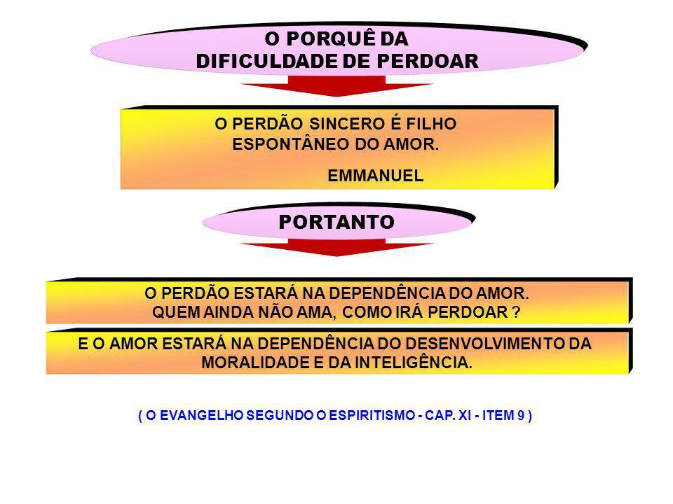 O PORQUÊ DA DIFICULDADE DE PERDOAR PORTANTO
