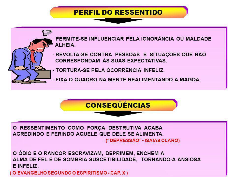 PERFIL DO RESSENTIDO CONSEQÜÊNCIAS