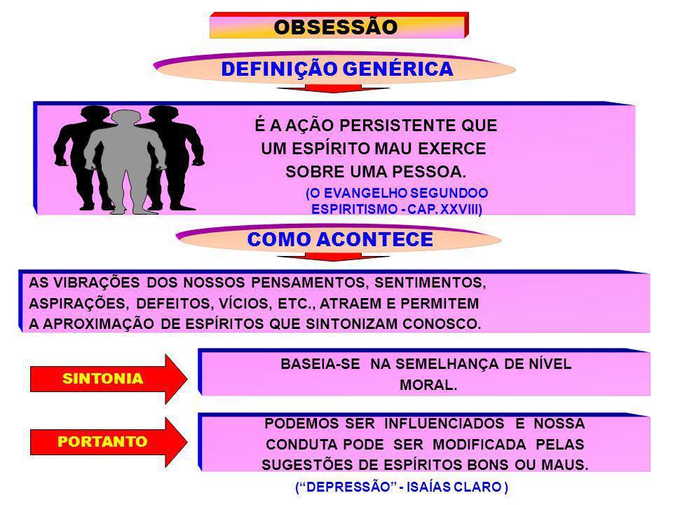 OBSESSÃO DEFINIÇÃO GENÉRICA COMO ACONTECE É A AÇÃO PERSISTENTE QUE