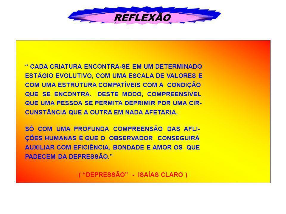 REFLEXÃO CADA CRIATURA ENCONTRA-SE EM UM DETERMINADO