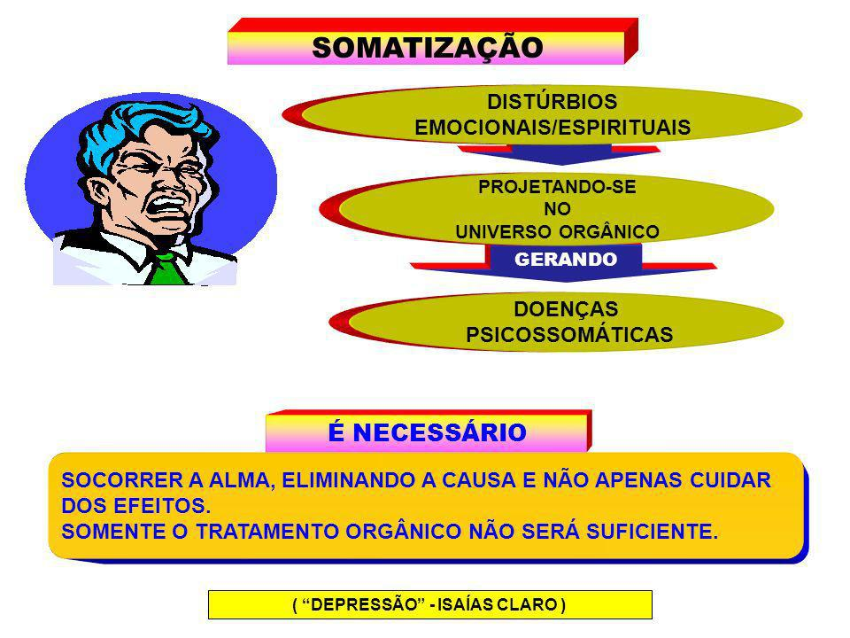EMOCIONAIS/ESPIRITUAIS ( DEPRESSÃO - ISAÍAS CLARO )