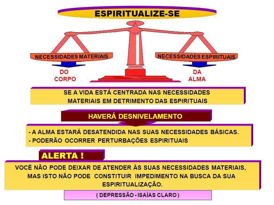 ESPIRITUALIZE-SE ALERTA ! HAVERÁ DESNIVELAMENTO DO CORPO DA ALMA
