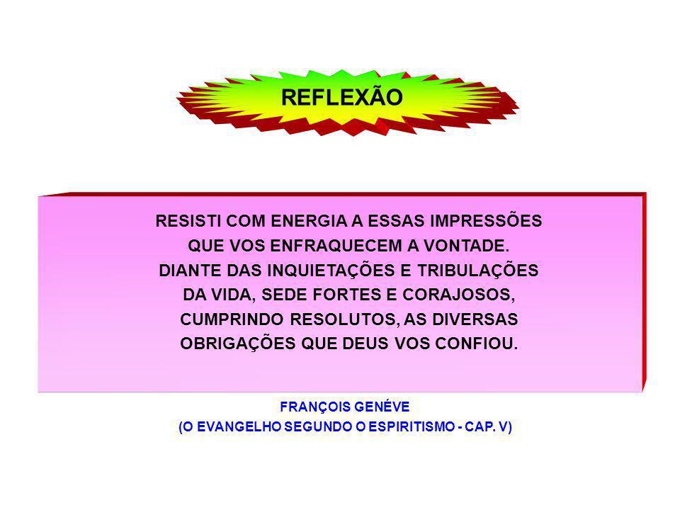 REFLEXÃO RESISTI COM ENERGIA A ESSAS IMPRESSÕES