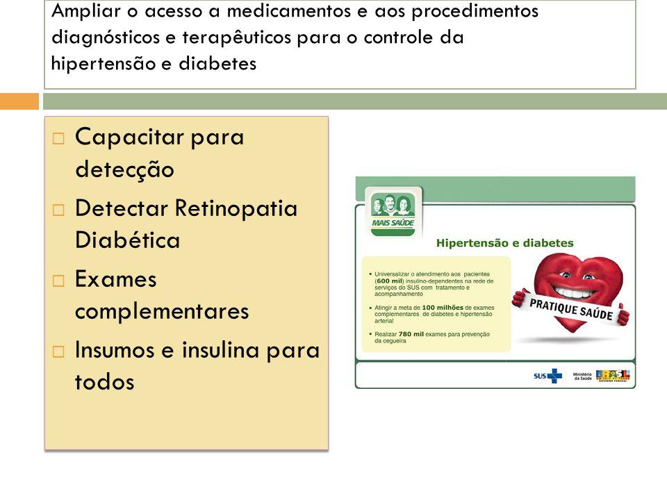 Capacitar para detecção Detectar Retinopatia Diabética
