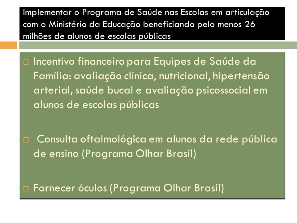 Fornecer óculos (Programa Olhar Brasil)