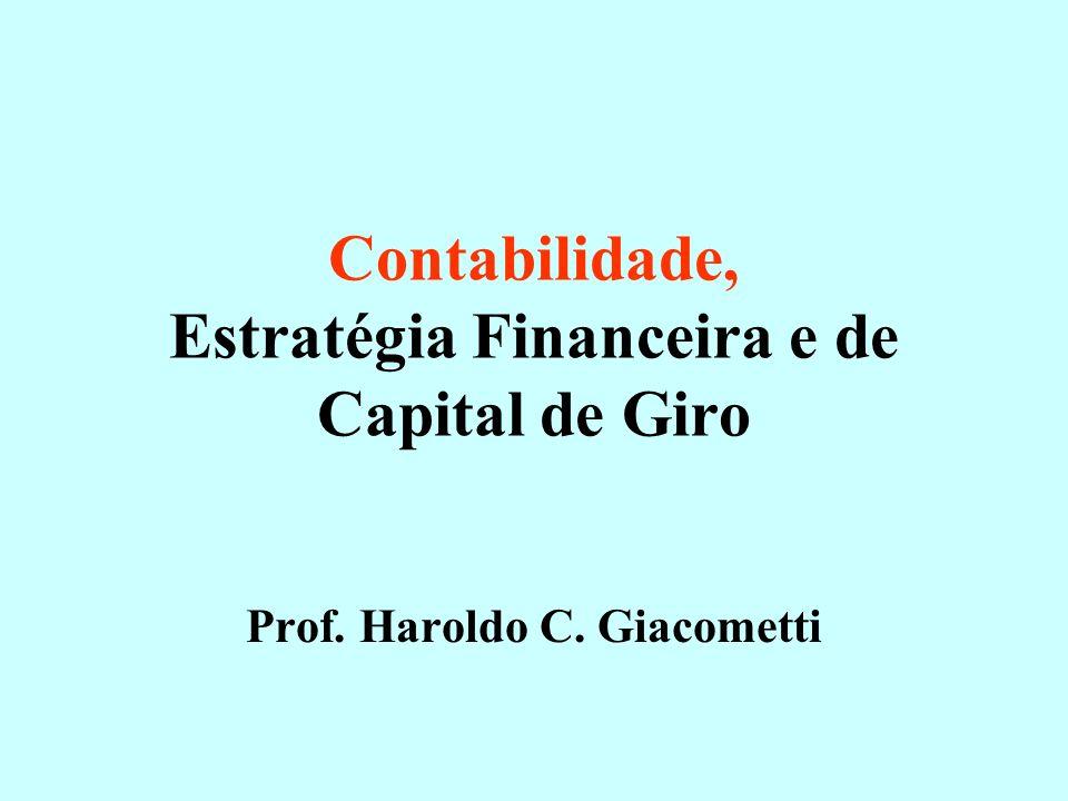 Contabilidade, Estratégia Financeira e de Capital de Giro