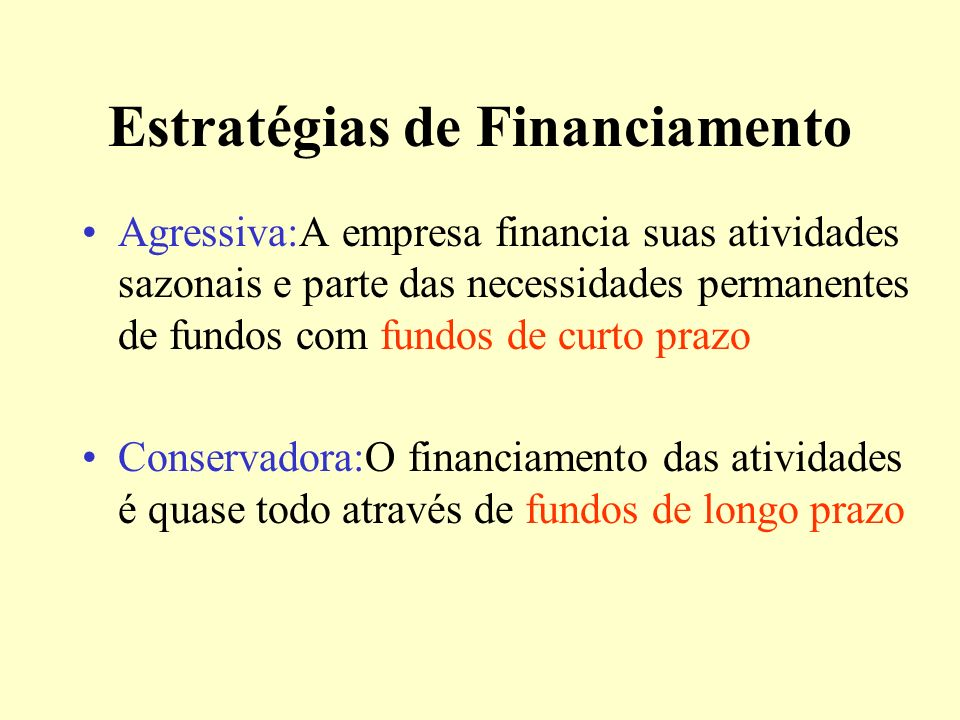 Estratégias de Financiamento