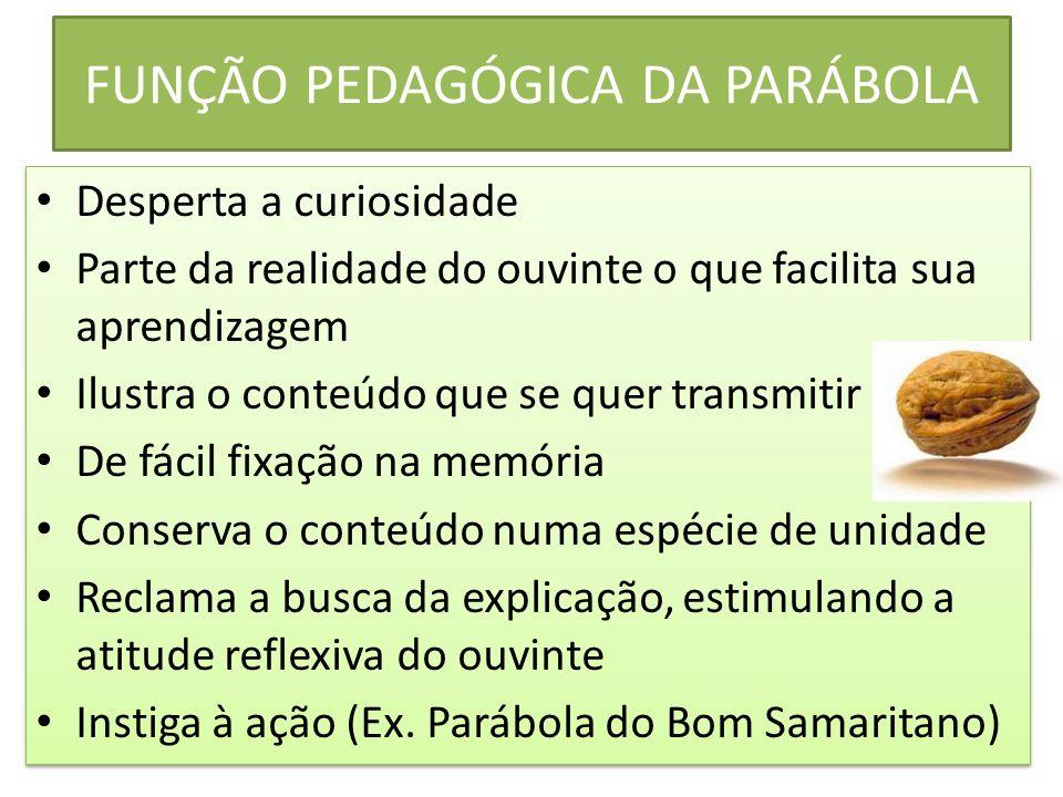 FUNÇÃO PEDAGÓGICA DA PARÁBOLA