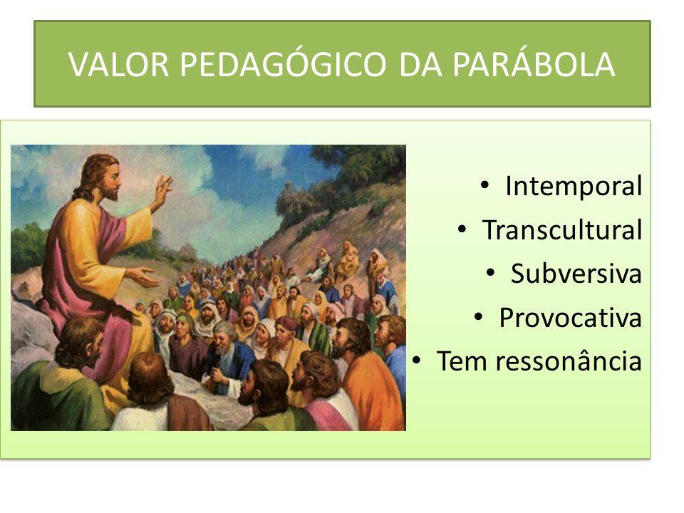 VALOR PEDAGÓGICO DA PARÁBOLA