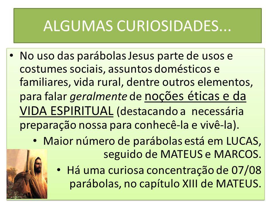 ALGUMAS CURIOSIDADES...