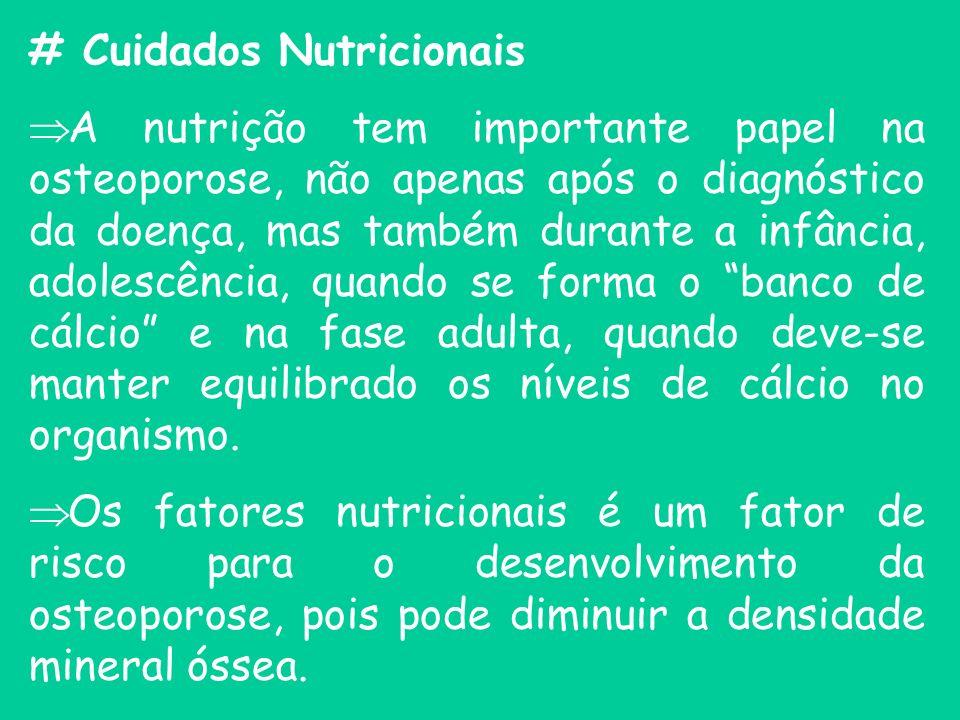 # Cuidados Nutricionais