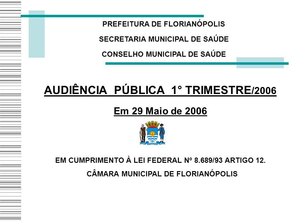 AUDIÊNCIA PÚBLICA 1° TRIMESTRE/2006