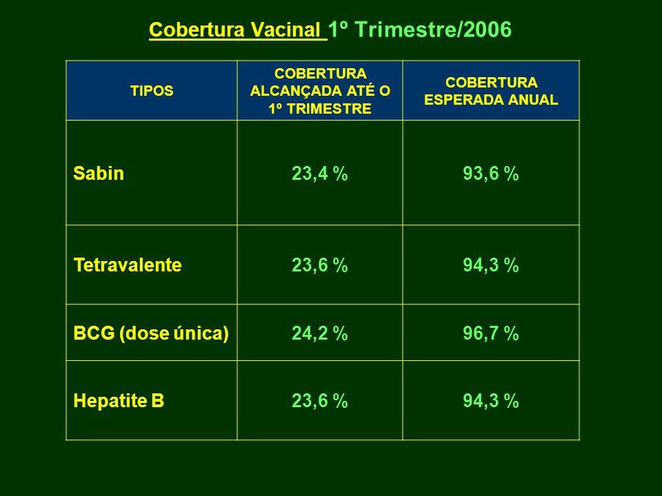 Cobertura Vacinal 1º Trimestre/2006