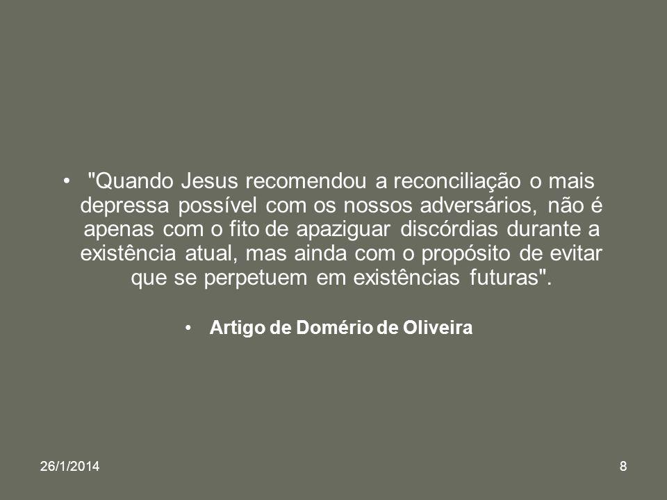 Artigo de Domério de Oliveira