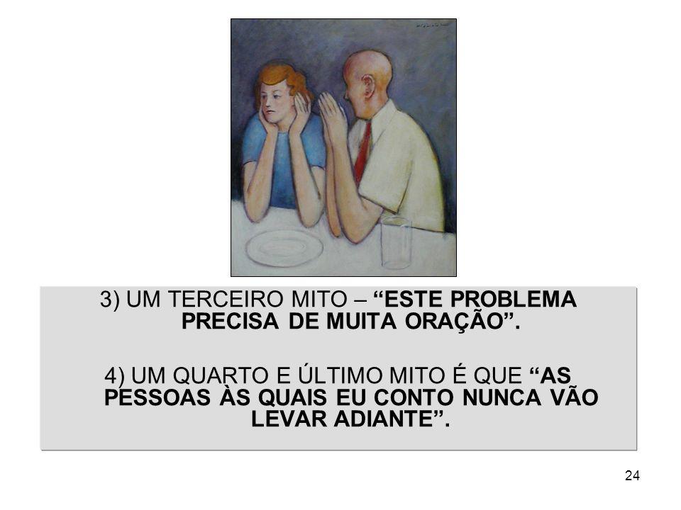 3) UM TERCEIRO MITO – ESTE PROBLEMA PRECISA DE MUITA ORAÇÃO .