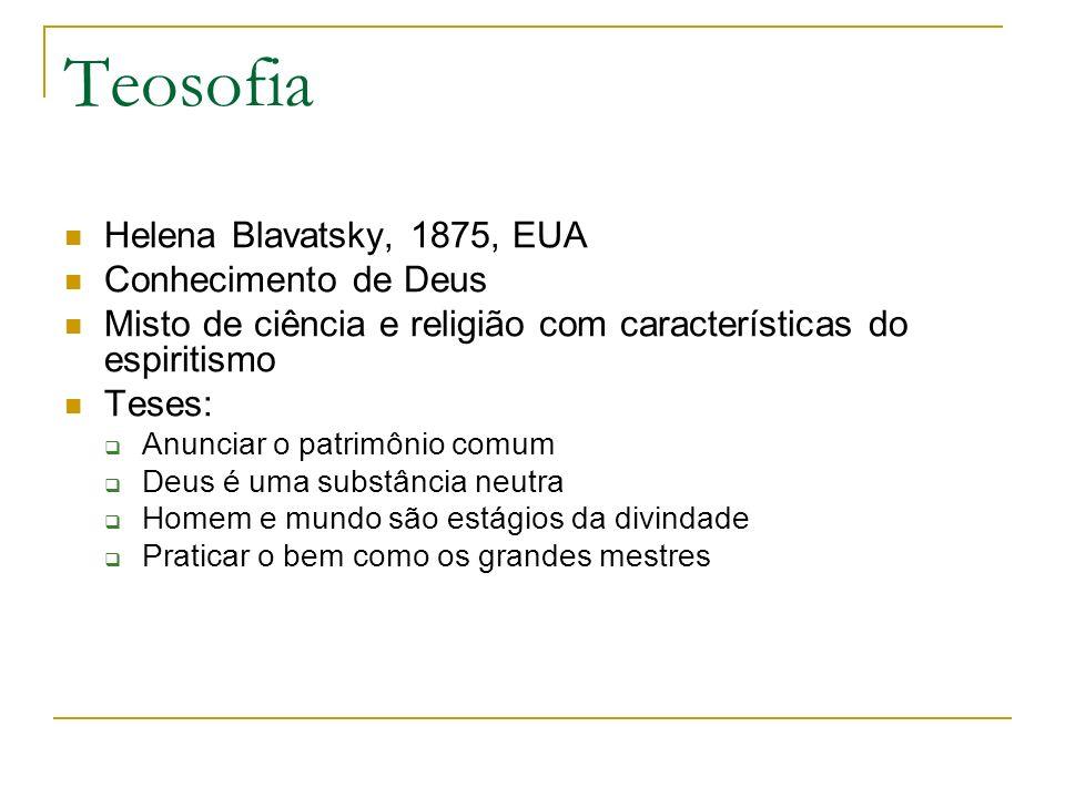 Teosofia Helena Blavatsky, 1875, EUA Conhecimento de Deus