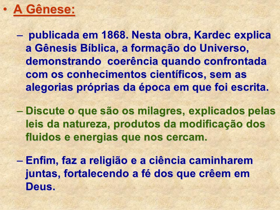 A Gênese: