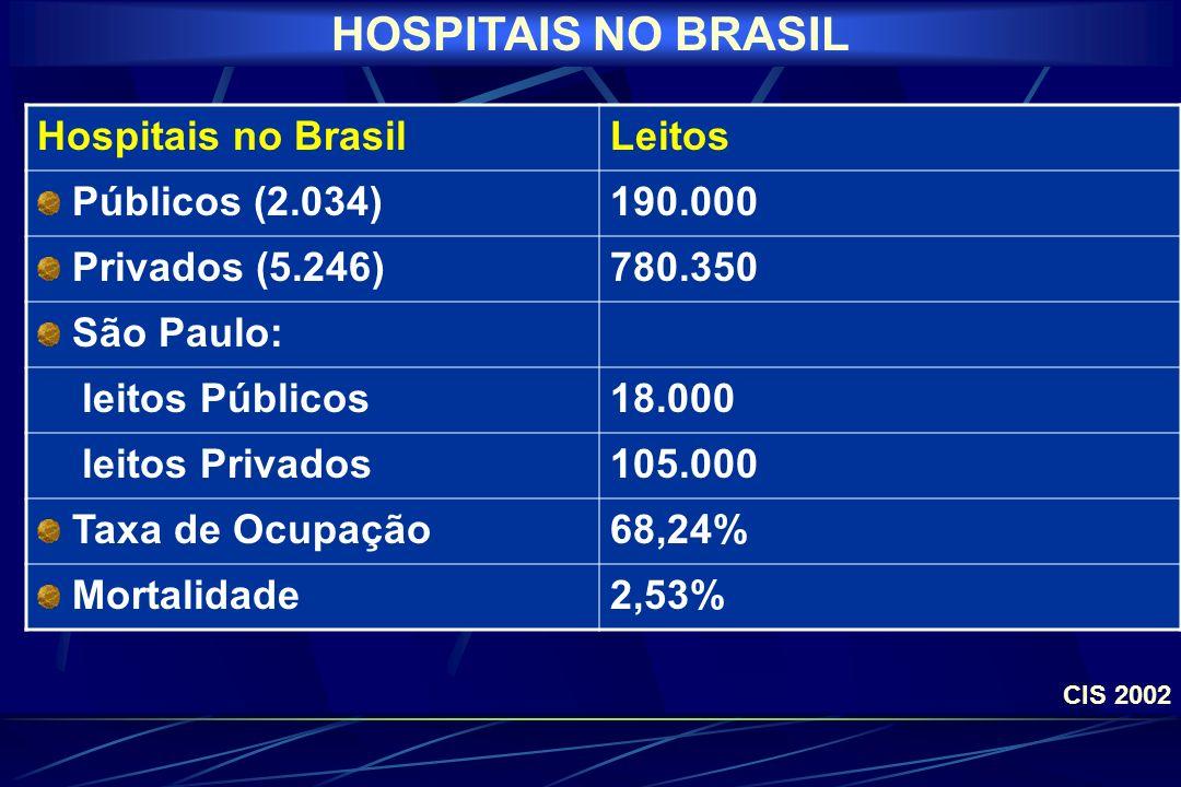 HOSPITAIS NO BRASIL Hospitais no Brasil Leitos Públicos (2.034)