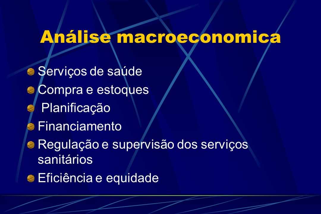Análise macroeconomica