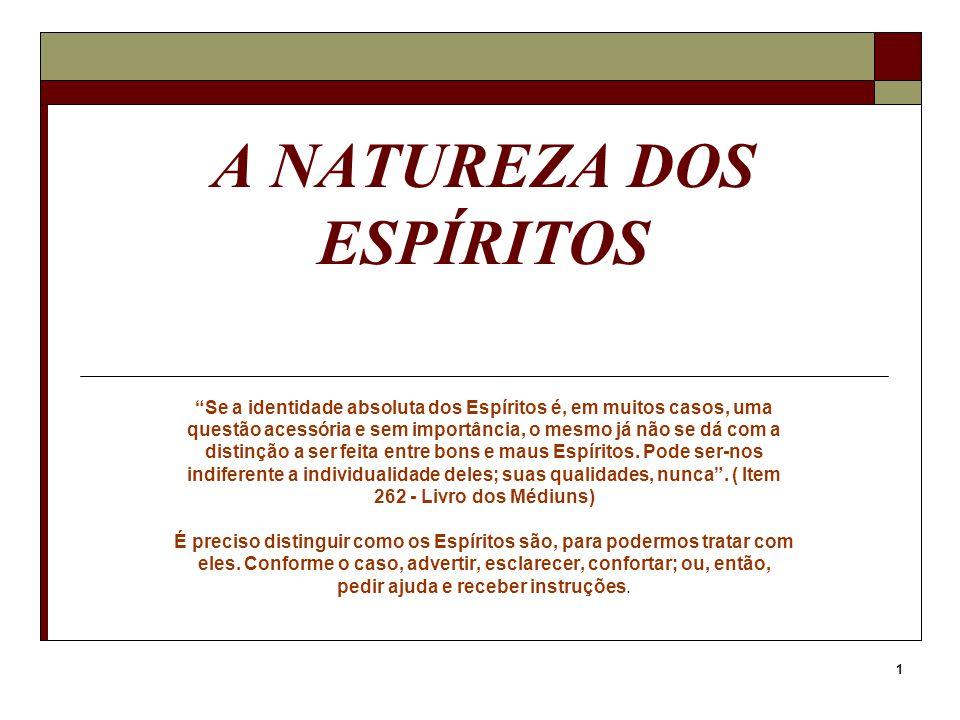 A NATUREZA DOS ESPÍRITOS