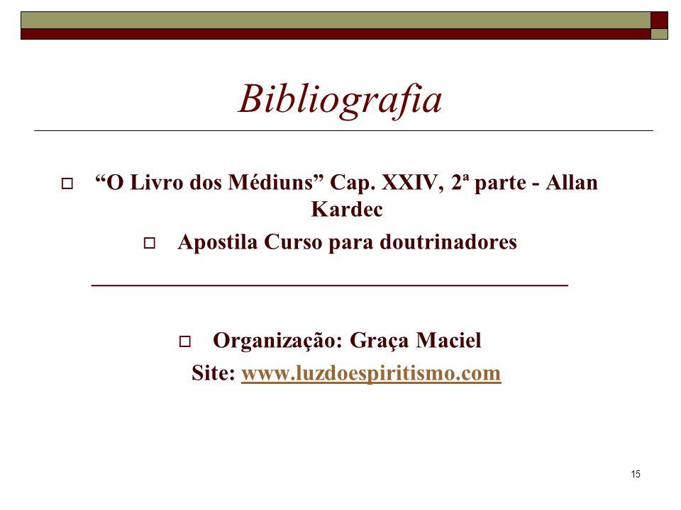 Bibliografia O Livro dos Médiuns Cap. XXIV, 2ª parte - Allan Kardec