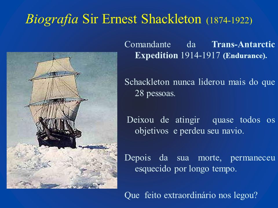 Biografia Sir Ernest Shackleton (1874-1922)