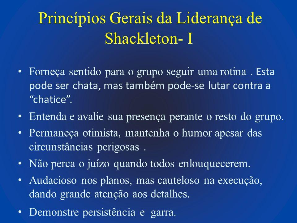 Princípios Gerais da Liderança de Shackleton- I